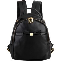 Mangoesteen Linel Ribbon Backpack - 5051 Black