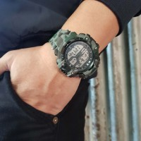 Skywalkgear Blade Jam Tangan Digital, Tahan Air - 5002 Army Green